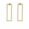 Earrings: 18k Gold Plated Stainless Steel Rectangle Studs - Starfish Project - origintraders