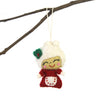 Hand Felted Christmas Ornament: Mrs. Claus - Global Groove (H) - origintraders