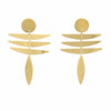 Earrings: 18k Gold Plated Stainless Steel Fringe Dangle - Starfish Project - origintraders
