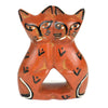 Handcrafted 4-inch Soapstone Love Cats Sculpture in Brick - Smolart - origintraders