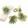 Daisy Napkin Rings - Set of Four Midnight - Global Groove (T) - origintraders