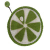 Handmade Felt Fruit Coin Purse - Lime - Global Groove (P) - origintraders