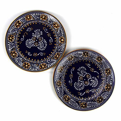 Dinner Plates 11.8in - Blue, Set of Two - Encantada - origintraders
