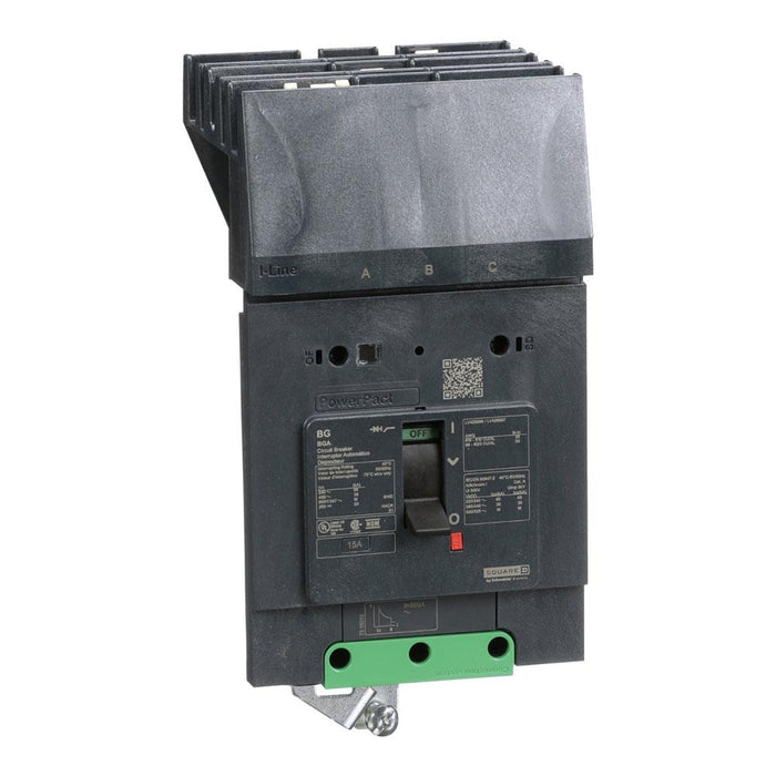 BGA36125 - Square D 125 Amp 3 Pole 600 Volt Plug-In Molded Case Circuit Breaker