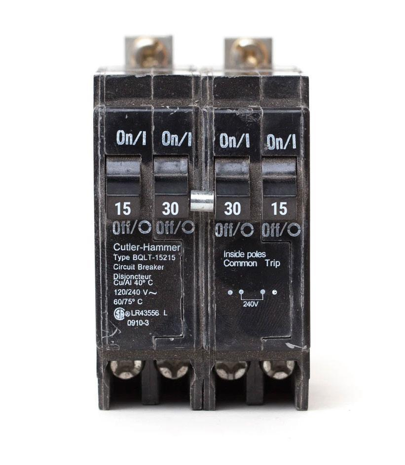 BQLT-15-230 - Commander Quad 15/30/30/15 amp Bolt-On Circuit Breaker
