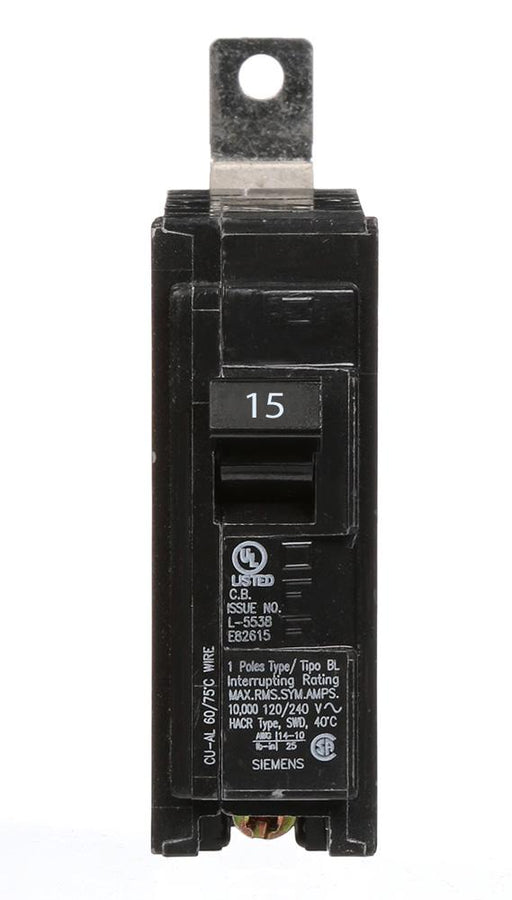 B115 - Siemens 15 Amp Single Pole Bolt-On Circuit Breaker