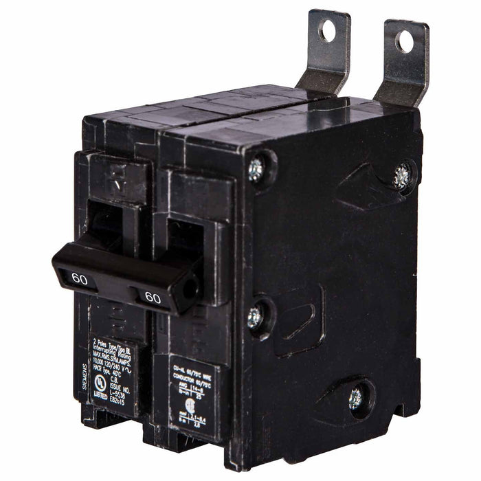 B260 - Siemens 60 Amp Double Pole Bolt-On Circuit Breaker