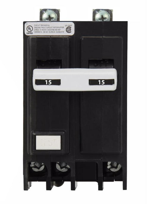 BQGF215 - Commander 15 Amp 2 Pole Bolt-On GFCI Circuit Breakers