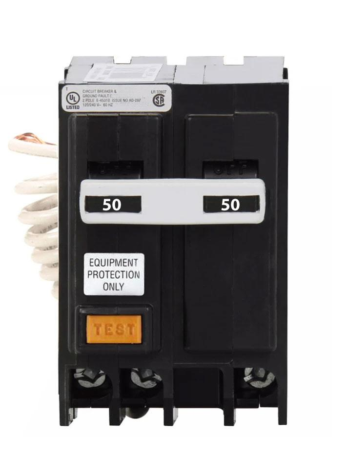 GFEP250 - Eaton Cutler-Hammer 50 Amp 2 Pole Ground Fault Equipment Protection Circuit Breaker