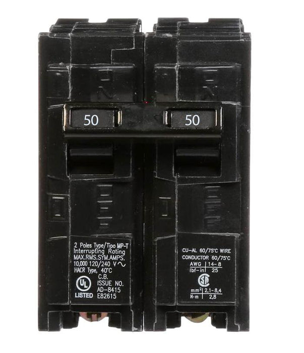 Q250 - Siemens 50 Amp Double Pole Circuit Breaker