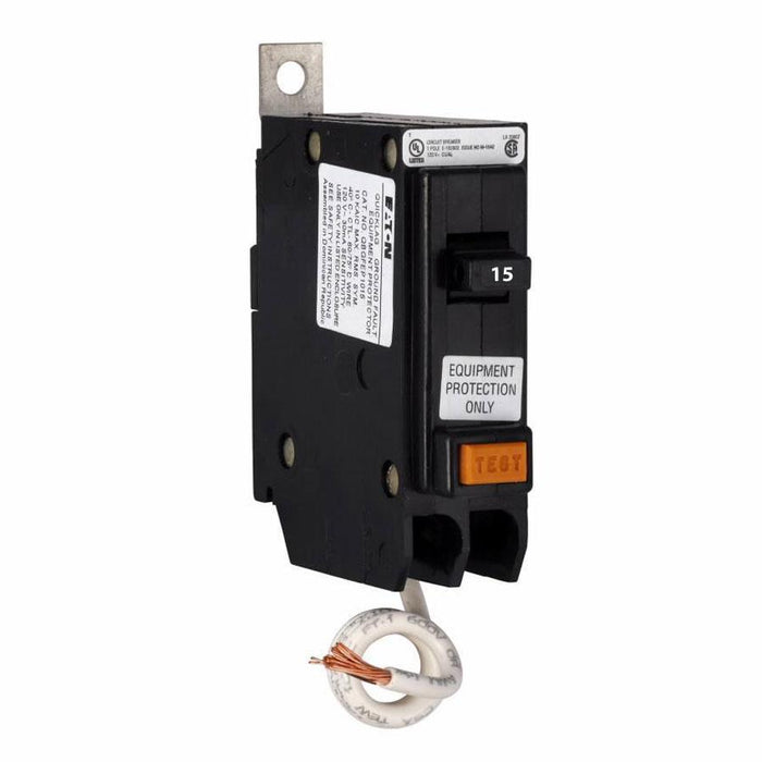 QBGFEP1015 - Eaton Cutler-Hammer 15 Amp 1 Pole Ground Fault Equipment Protection Bolt-On Circuit Breaker