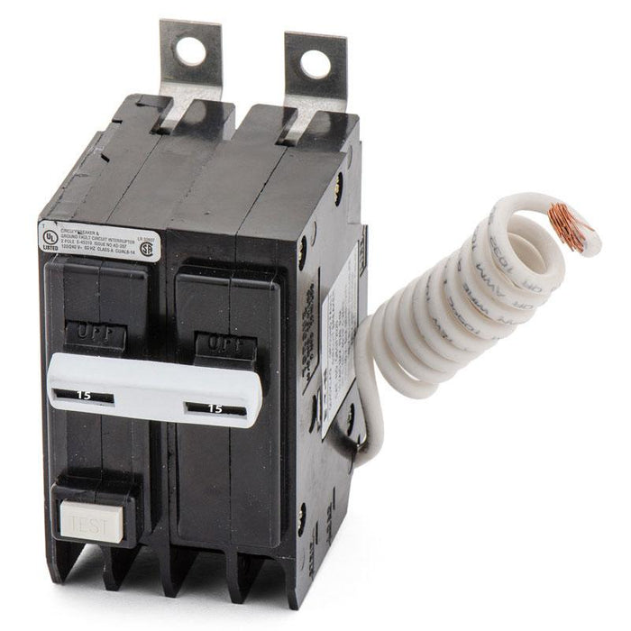 QBGFT2015 - Eaton Cutler-Hammer 15 Amp Double Pole GFCI Bolt-On Circuit Breaker