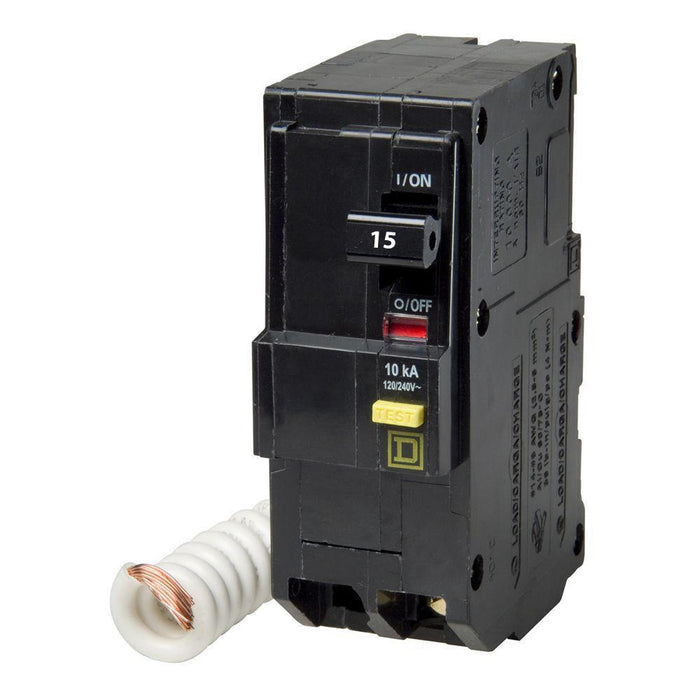QO215GFI - Square D 15 Amp Double Pole GFCI Circuit Breaker