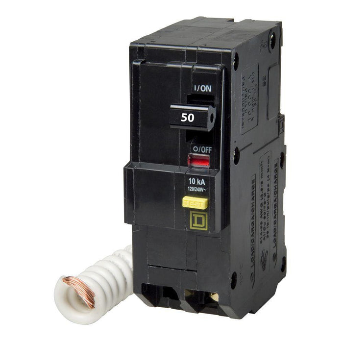 QO250GFI - Square D 50 Amp Double Pole GFCI Circuit Breaker