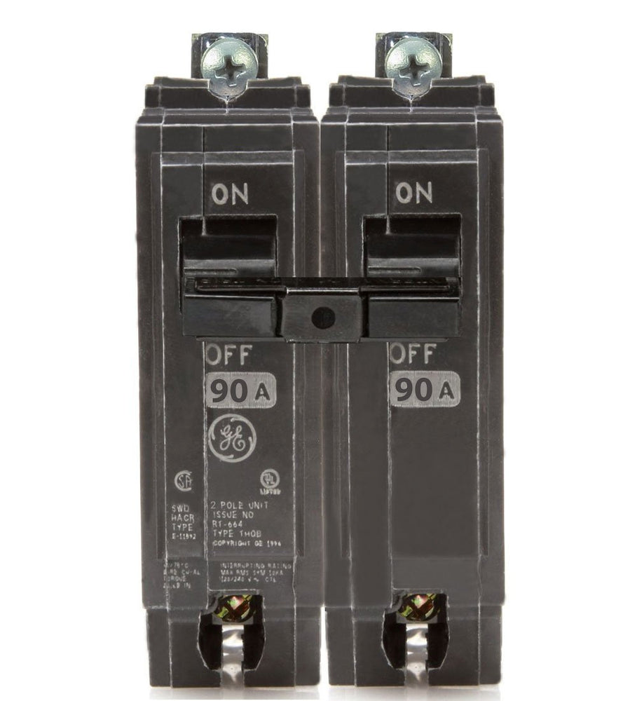 THQB2190 - GE 90 Amp Double Pole Bolt-On Circuit Breaker