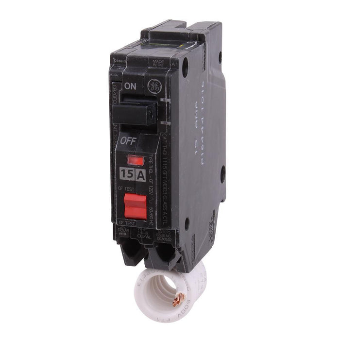 THQL1115GFT - GE 15 Amp Single Pole GFCI Circuit Breaker