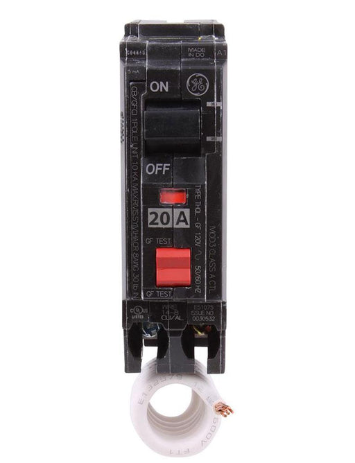 THQL1120GFT - GE 20 Amp Single Pole GFCI Circuit Breaker