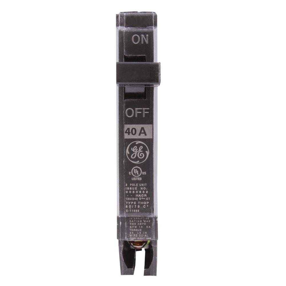 "THQP140 - GE 40 Amp Single Pole 1/2"" Circuit Breaker"