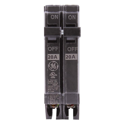 "THQP220 - GE 20 Amp Double Pole 1/2"" Circuit Breaker"