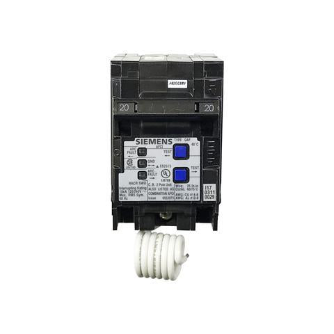 Q220AFC - Siemens 20-Amp 2 Pole 120-Volt Combination Type Arc Fault Circuit