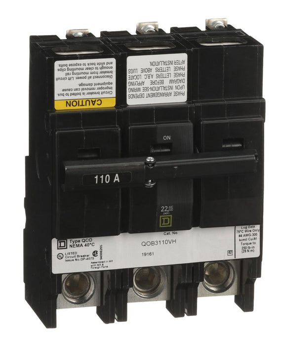 QOB3110VH - Square D 110 Amp 3 Pole 240 Volt Bolt-On Circuit Breaker