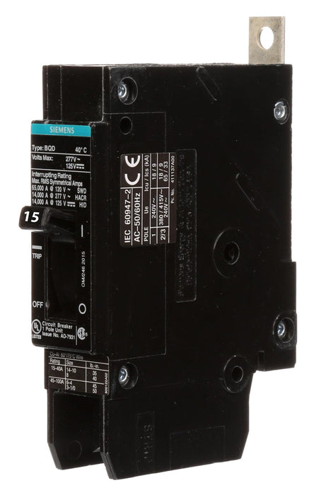 BQD6115 - 15 AMP, Single Pole, 347/600 VOLT, SIEMENS/ITE