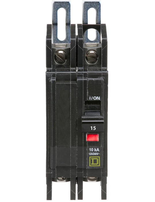 QOU215 - Square D 15 Amp 2 Pole 240 Volt Bolt-On Unit Mount Circuit Breaker