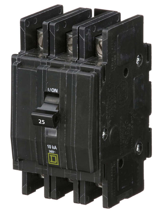 QOU325 - Square D 25 Amp 3 Pole 240 Volt Bolt-On Molded Case Circuit Breaker
