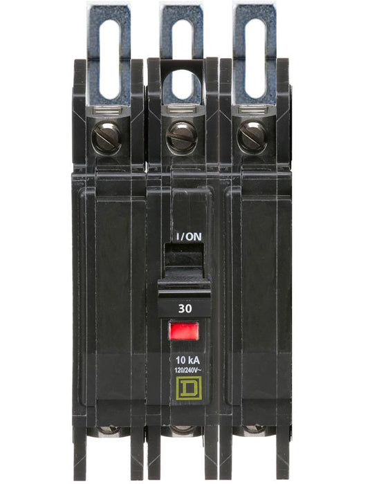QOU330 - Square D 30 Amp 3 Pole 240 Volt Miniature Circuit Breaker