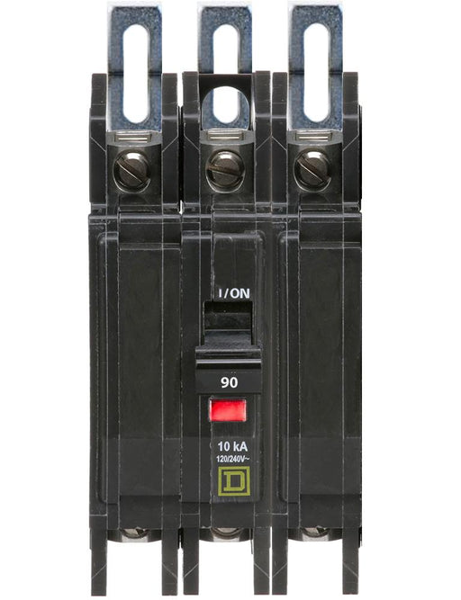 QOU390 - Square D 90 Amp 3 Pole 240 Volt Miniature Circuit Breaker