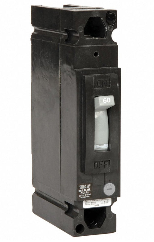 TED113060WL - GE 60 Amp 1 Pole 277 Volt Molded Case Circuit Breaker General Electric Lug
