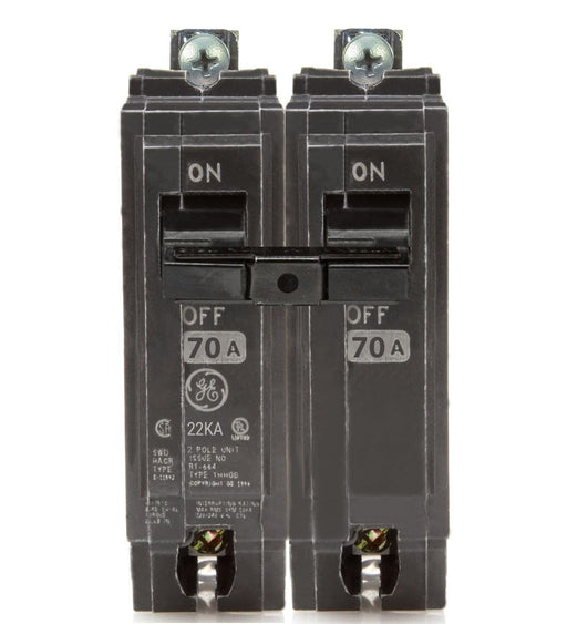 THHQB2170 - GE 70 Amp 2 Pole 240 Volt Bolt-On Molded Case Circuit Breaker