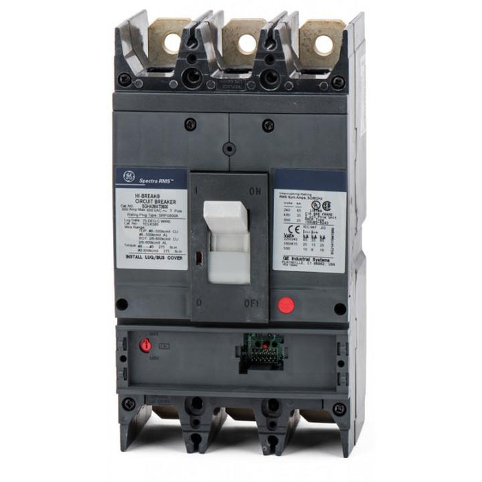 SGHA36AT0600 - GE 600 amp 3 pole 600 Volt Bolt-On Molded Case Circuit Breaker