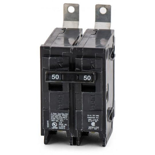 B250H - Siemens 50 Amp 2 Pole 240 Volt Molded Case Circuit Breaker