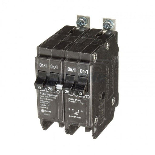 BQLT-15-230 - Commander Bolt-On Space Saver Quad Two 15 Amp Single Pole & One 30 Amp Double Pole Bolt-On Circuit Breaker