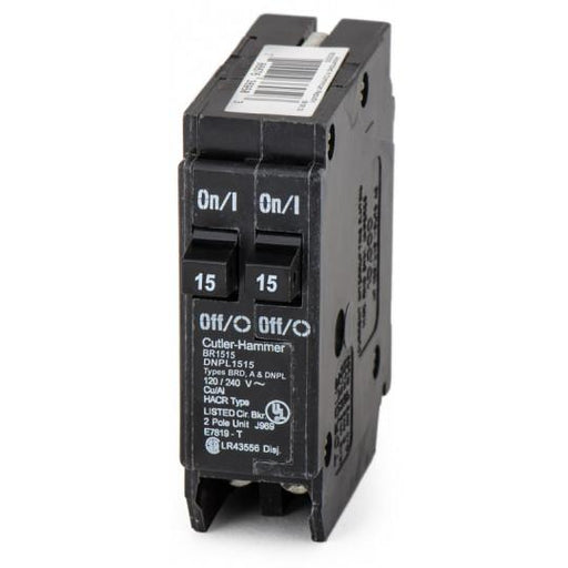 BR1515 - Cutler-Hammer Space Saver Twin Two 15 Amp Circuit Breaker