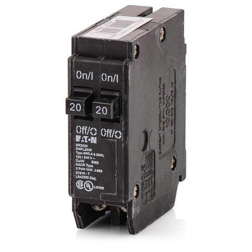 BR2020 - Eaton Cutler-Hammer 20 Amp 1 Pole 120 Volt Plug-On Molded Case Circuit Breaker