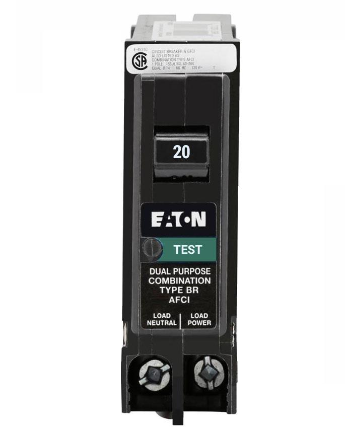 BRP120AFC - Eaton Cutler-Hammer 20 Amp Single Pole AFCI Circuit Breaker