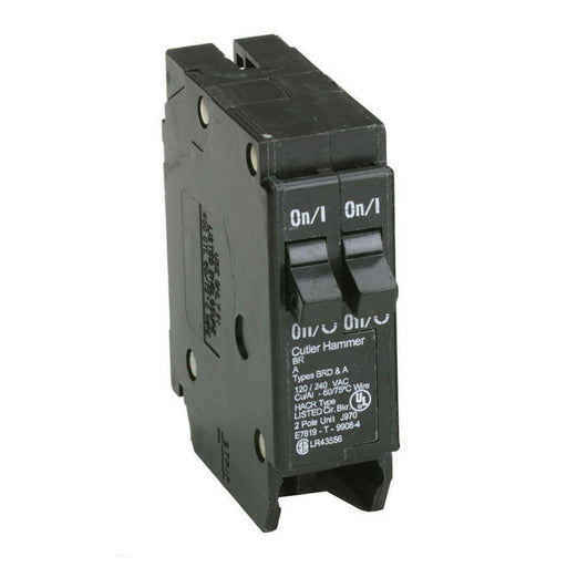 BR2015 - Cutler-Hammer Space Saver Twin Two 20/15 Amp Circuit Breaker