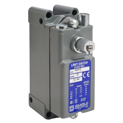 9007AW12 - Square D 15 Amp 1 Pole 600 Volt Electric Limit Switch