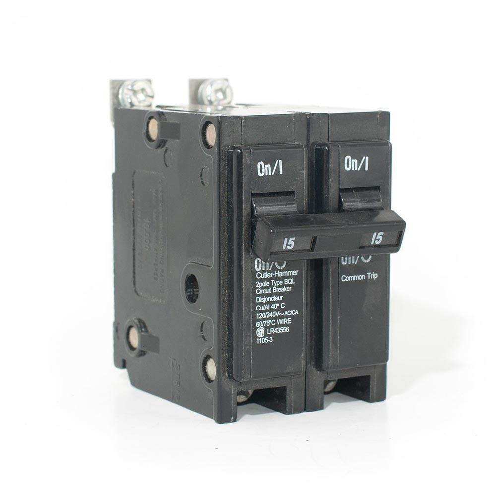 BQL215 - Commander 15 Amp Double Pole Bolt-On Circuit Breaker