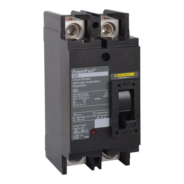 QDL22100 - Square D 100 Amp Double Pole PowerPact Q Molded Case Circuit Breaker