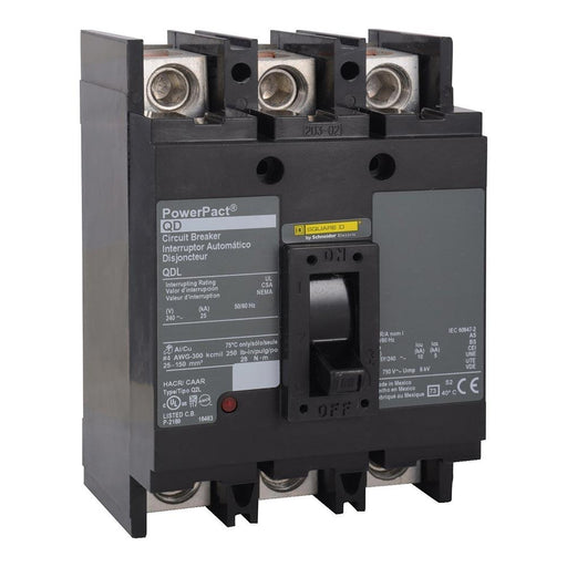 QDL32125 - Square D 125 Amp 3 Pole 240 Volt PowerPact Q Molded Case Circuit Breaker