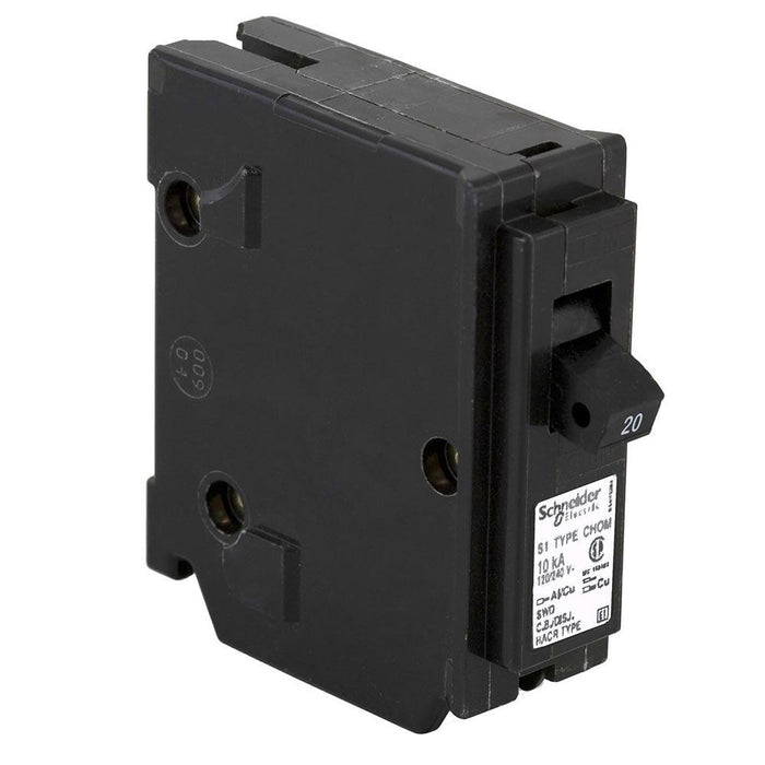 CHOM120 - HomeLine 20 Amp 1 Pole 120 Volt Plug-In Circuit Breaker
