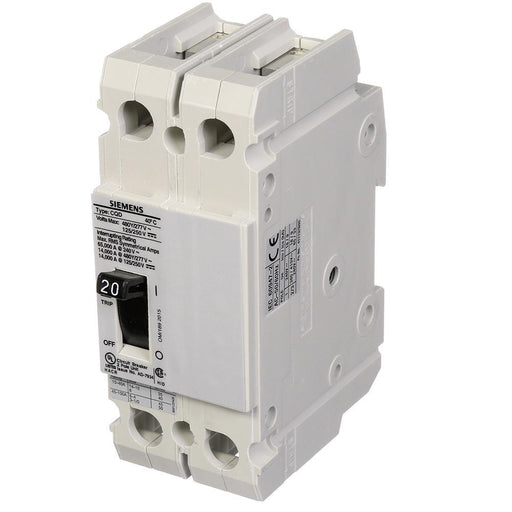 CQD220 - Siemens 20 Amp 2 Pole 480 Volt Molded Case Circuit Breaker