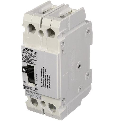 CQD240 - Siemens 40 Amp 2 Pole 480 Volt Molded Case Circuit Breaker