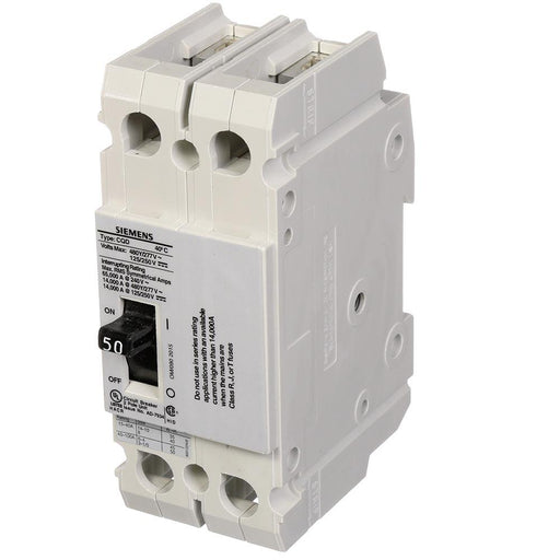 CQD250 - Siemens 50 Amp 2 Pole 480 Volt Molded Case Circuit Breaker