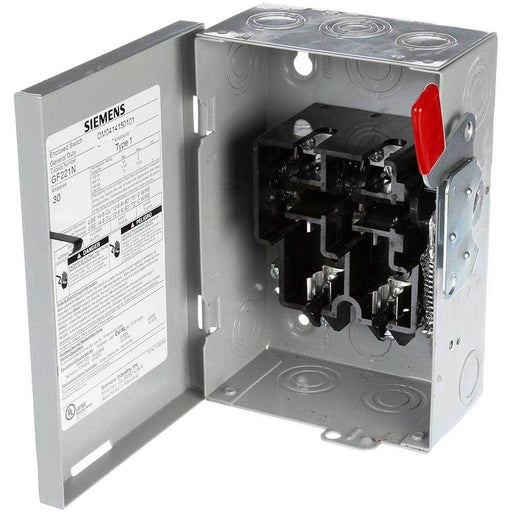 GF221N - Siemens 30 Amp 2 Pole 240 Volt General Duty Safety Switch