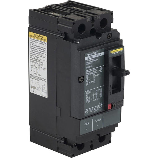 HDL26125 - Square D 125 Amp 2 Pole 600 Volt Plug-In Molded Case Circuit Breaker