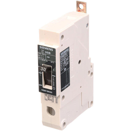 HGB1B030B - Siemens 30 Amp 1 Pole 347 Volt Bolt-On Molded Case Circuit Breaker